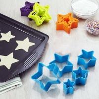 Cortadores de galletas en forma de estrella