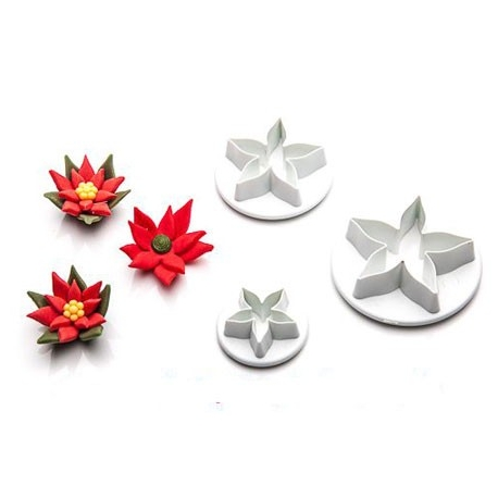 POINSETIA - SET DE 3 CORTADORES